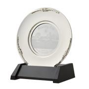 真鍮製 丸皿 アクリルレーザー彫刻入 GU206