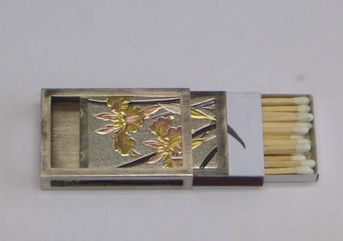 スライド式の真鍮マッチケース